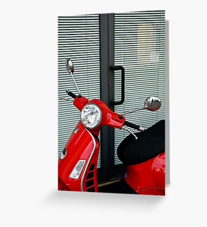 Red, Black and Grey Greeting Card