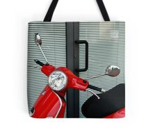 Red, Black and Grey Tote Bag