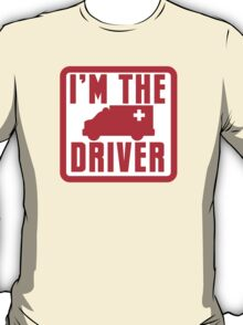 I'm the ambulance DRIVER in red T-Shirt