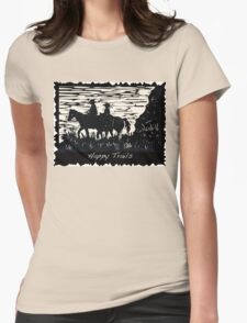 Happy Trails Womens Fitted T-Shirt