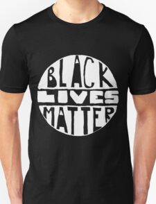 Black Lives Matter - Filled Black Background T-Shirt