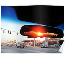 Sunset in a Rear View Mirror  Poster