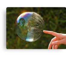 Half Gone Bubble Canvas Print