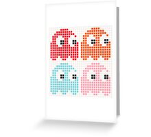 Pac-Man Monsters Greeting Card
