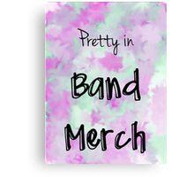 Pretty in Band Merch Canvas Print