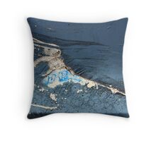 Runner in the Wall Throw Pillow