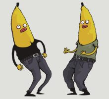 bananas in regular clothing by dagove
