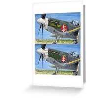 P51 Cheshire CATh noseart Greeting Card