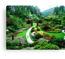 Butchart's Gardens Canvas Print