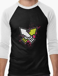 Splatoon - Turf War (Hot Pink Splat) Men's Baseball ¾ T-Shirt
