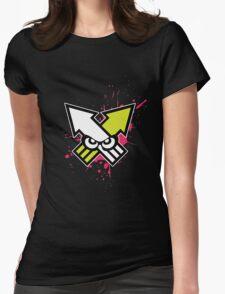 Splatoon - Turf War (Hot Pink Splat) Womens Fitted T-Shirt