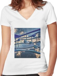 Blue Notes Women's Fitted V-Neck T-Shirt