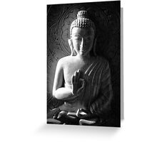 Wooden Carving of Buddha - 6 Greeting Card