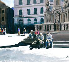 Cesky Krumlov Square by Anthony Billings