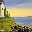 Lighthouse Sunset by A. F. Branco
