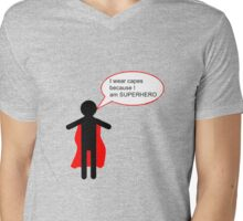 SUPERHERO Mens V-Neck T-Shirt