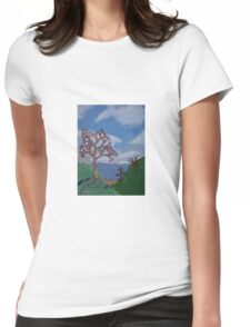 Seaside Blossoms  Womens Fitted T-Shirt