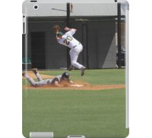 Stolen base but eating some dirt iPad Case/Skin