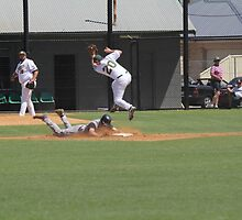 Stolen base but eating some dirt by BBCsImagery