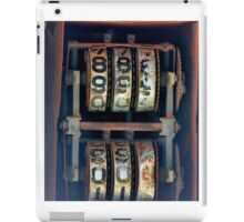 Gas Pump Numbers iPad Case/Skin