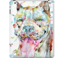 WATERCOLOR PIT BULL iPad Case/Skin