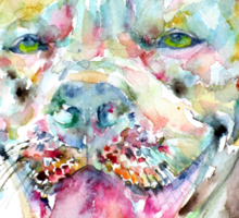 WATERCOLOR PIT BULL Sticker
