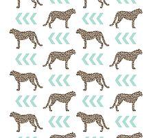 Cheetah - gold glitter modern minimal pattern design college dorm cougar animal nature wild fierce by charlottewinter