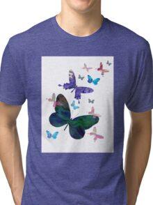 butterfly design Tri-blend T-Shirt