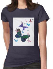 butterfly design Womens Fitted T-Shirt