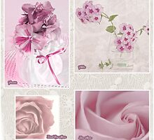 Pansies, Roses And Phlox Photo Collage by Sandra Foster