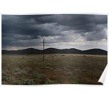Approaching rain, Yunta, South Australia Poster