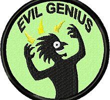 Evil Genius Geek Merit Badge by storiedthreads