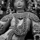 Sculpture, Halebid, India by Syd Winer