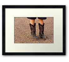 Child's Boots Framed Print