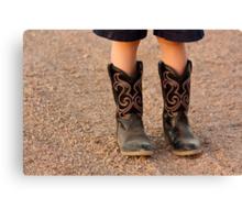 Child's Boots Canvas Print