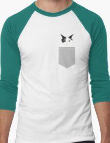 Manny - Black and white cute cat gift cat person cat lady funny cat meme pet portraits customizable  Men's Baseball ¾ T-Shirt