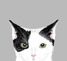 Manny - Black and white cute cat gift cat person cat lady funny cat meme pet portraits customizable  by PetFriendly
