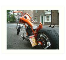 Chopper Motorbike Art Print