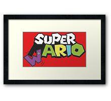 Wario Vs Super Mario Framed Print