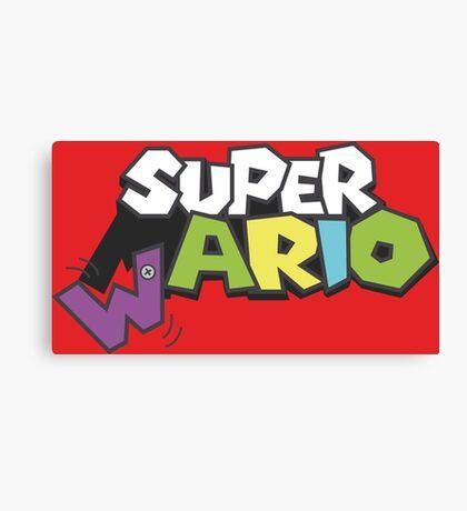Wario Vs Super Mario Canvas Print