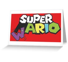 Wario Vs Super Mario Greeting Card