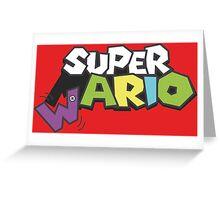 Wario Vs Super Mario Greeting Card