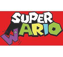 Wario Vs Super Mario Photographic Print