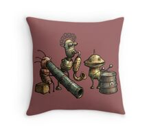 Machinarium's Jazz Band Throw Pillow