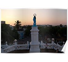 The view from Panjim's church at sunset Poster