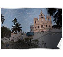 Panjim Church at sunset - Goa Poster