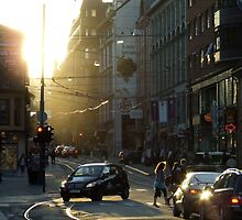 Sunny Evening in the City by ViktoryiaN