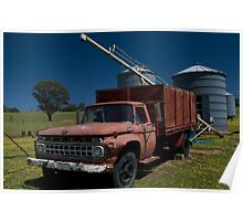 Red truck at Ladysmith Poster