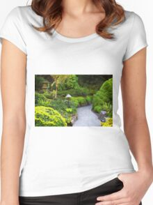 Mystery - Butchart Garden - BC Women's Fitted Scoop T-Shirt