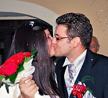 First Married Kiss by Andrew Ness - www.nessphotography.com